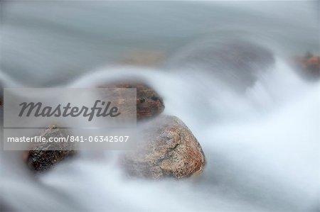 Rochers à Baring Creek, Glacier National Park, Montana, États-Unis d'Amérique, l'Amérique du Nord