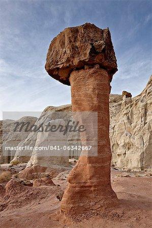 Toadstool hoodoo, Grand Staircase-Escalante National Monument, Utah, United States of America, North America