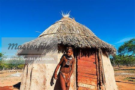Himba garçon, Kaokoland, Namibie, Afrique