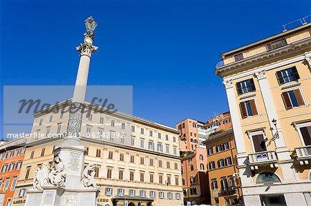 Monument in Piazza di Spagna, Rome, Lazio, Italy, Europe