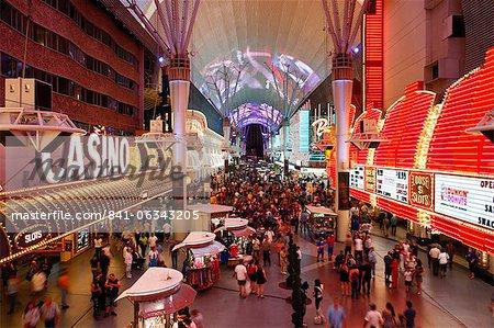 Der Freemont Street Experience in Downtown Las Vegas, Las Vegas, Nevada, Vereinigte Staaten von Amerika, Nordamerika