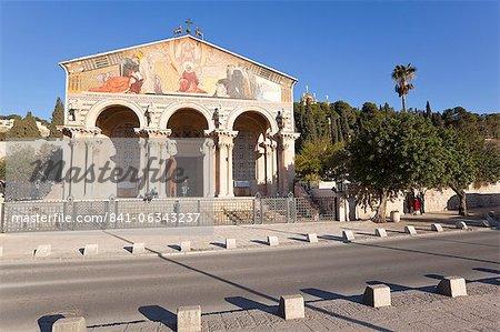 L'église de toutes les Nations, Mont des oliviers, Jérusalem, Israël, Moyen-Orient
