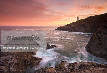 Sonnenaufgang am Trevose Head North Cornish Küste, Cornwall, England, Vereinigtes Königreich, Europa
