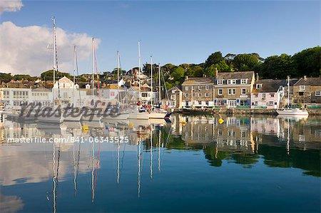 Padstow, un village de pêcheurs pittoresque avec un port pittoresque sur le Nord côte de Cornouailles, Cornwall, Angleterre, Royaume-Uni, Europe