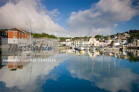 Padstow pêche village et port de Cornwall, Angleterre, Royaume-Uni, Europe
