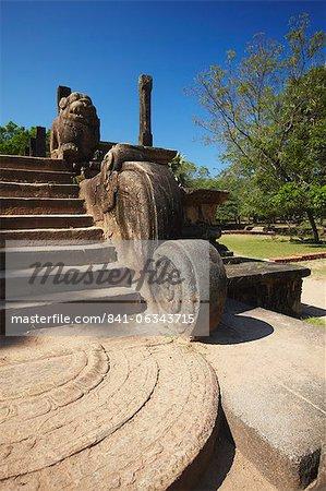 Salle du Conseil, Citadelle, Polonnaruwa, Site du patrimoine mondial de l'UNESCO, Province centrale du Nord, Sri Lanka, Asie
