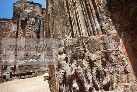 Lankatilaka, Polonnaruwa, Site du patrimoine mondial de l'UNESCO, Province centrale du Nord, Sri Lanka, Asie
