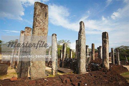 Atadage, Quadrangle, Polonnaruwa, Site du patrimoine mondial de l'UNESCO, Province centrale du Nord, Sri Lanka, Asie