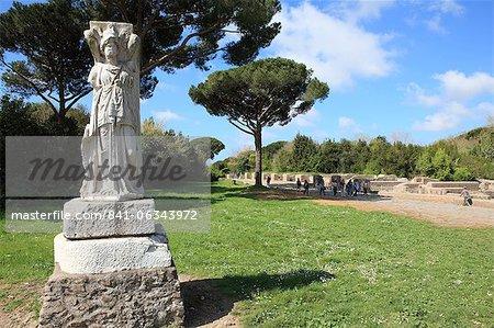 Statue, Ostia Antica, Rome, Lazio, Italie, Europe