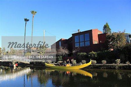 Canaux de Venise, Venice Beach, Los Angeles, Californie, États-Unis d'Amérique, l'Amérique du Nord