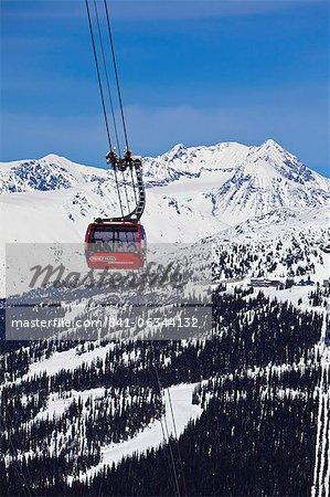 Peak 2 Peak Gondola, the peak to peak gondola between Whistler and Blackcomb mountains, Whistler Blackcomb Ski Resort, Whistler, British Columbia, Canada, North America