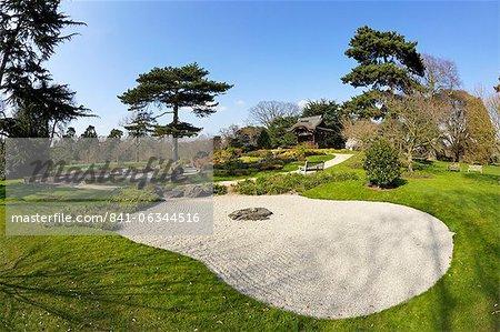 Japonais Gateway Chokushi-Mon, passerelle de messager impérial, Royal Botanic Gardens, Kew, Site du patrimoine mondial de l'UNESCO, Londres, Angleterre, Royaume-Uni, Europe