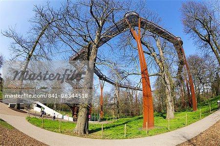 Rhizotron et Xstrata Treetop Walkway, Royal Botanic Gardens, Kew, patrimoine mondial de l'UNESCO, Londres, Royaume-Uni, Europe