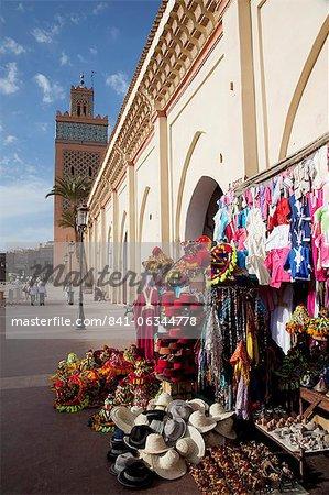 DEl Mansour mosquée souvenir shops, Marrakech, Maroc, l'Afrique du Nord, Afrique