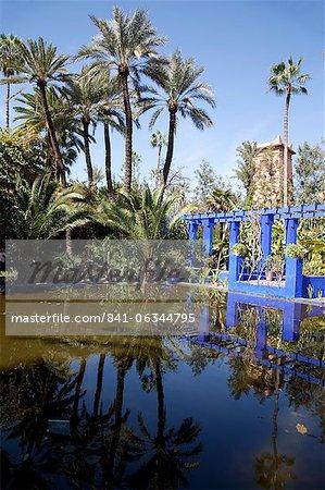 Majorelle Gärten, Marrakesch, Marokko, Nordafrika, Afrika