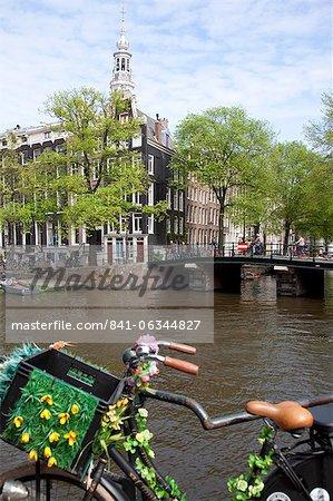 Zuiderkerk and Canal, Amsterdam, Holland, Europe