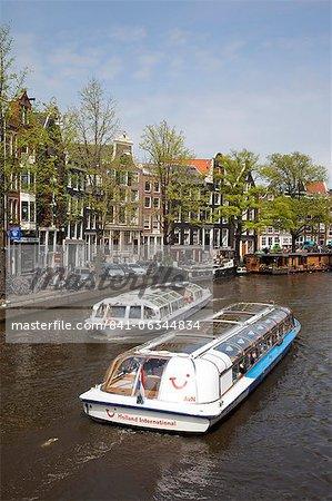 Bateaux et architecture, Amsterdam, Hollande, Europe