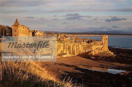 The Castle at sunrise, St Andrews, Fife, Scotland