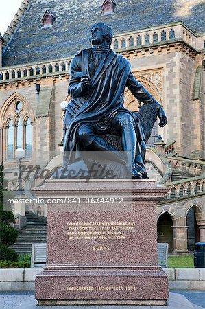 Robert Burns Statue, Albert Square, Dundee, Schottland
