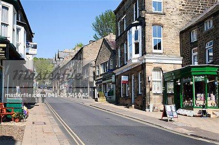 High Street at Pateley Bridge in Nidderdale, North Yorkshire, Yorkshire, England, United Kingdom, Europe