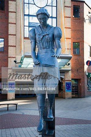 Bathing Belle statue on Westborough, Scarborough, North Yorkshire, Yorkshire, England, United Kingdom, Europe