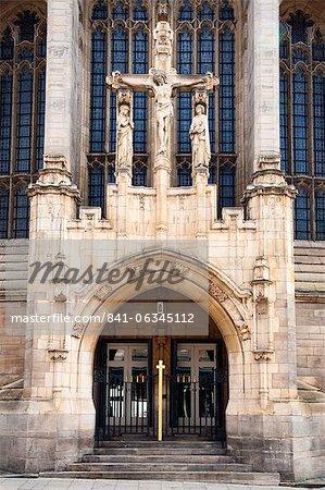 Leeds Kathedrale Tür, Leeds, West Yorkshire, Yorkshire, England, Vereinigtes Königreich, Europa