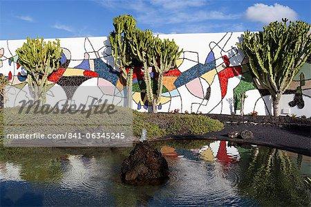 Cactus au jardin, Fundación César Manrique, Taro de Tahiche, Lanzarote, îles Canaries, Espagne