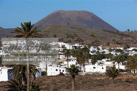 View over village, Haria, Lanzarote, Canary Islands, Spain