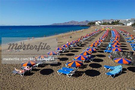 Playa Grande, Puerto del Carmen, Lanzarote, îles Canaries, Espagne, Atlantique, Europe