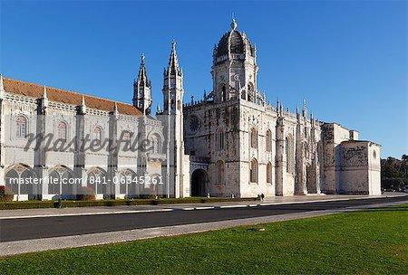 Mosteiro dos Jerónimos, patrimoine mondial UNESCO, Belém, Lisbonne, Portugal, Europe