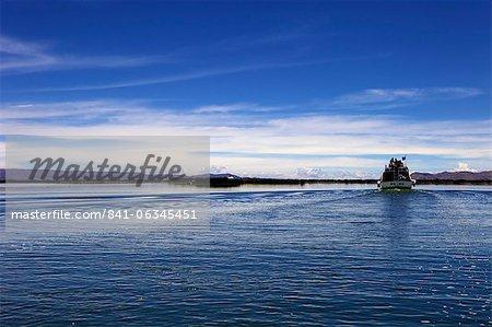 Boat on Lake Titicaca, peru, peruvian, south america, south american, latin america, latin american South America