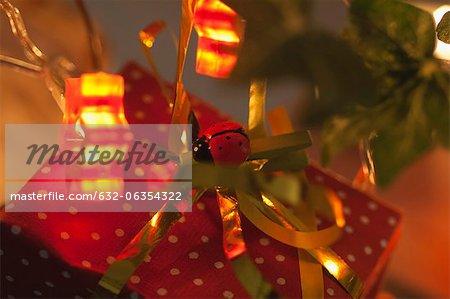 Richement enveloppé de cadeau de Noël