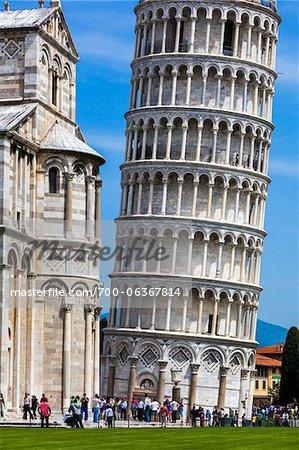 Tour penchée de Pise, Toscane, Italie