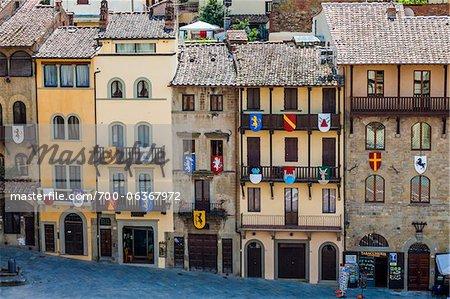 Piazza Grande, Arezzo, Toscane, Italie