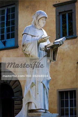 Statue of Luca Pacioli, Sansepolcro, Tuscany, Italy