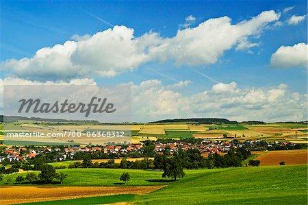 Ansicht von Watterdingen, Hegau, Baden-Württemberg, Deutschland