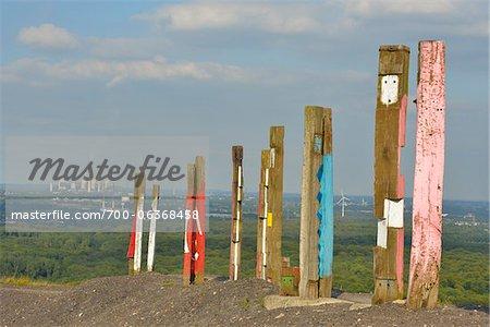 Halde Haniel, Bottrop, Oberhausen, bassin de la Ruhr, Rhénanie du Nord-Westphalie, Allemagne
