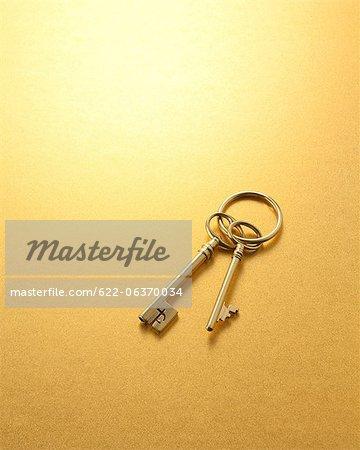Two golden keys