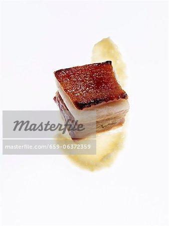 Pork belly with a honey glaze