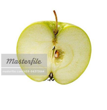La moitié d'une pomme