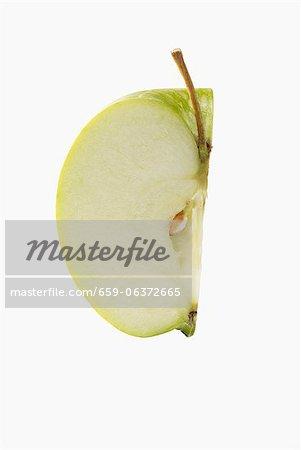 Ein Viertel eines Apfels
