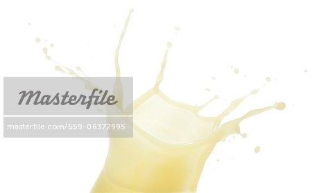 A splash of banana juice