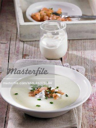 Vichysoisse (cold leek and potato soup, France)