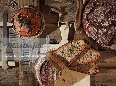 Verschiedene Arten von rustikalen Brot