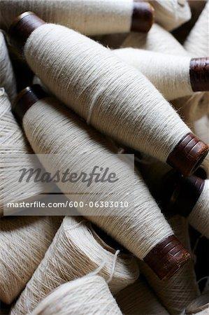 Spools of Wool Yarn, Ontario, Canada