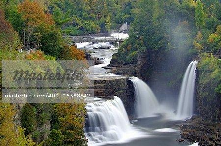 Cette cascades est situé dans les Adirondacks Upstate New York