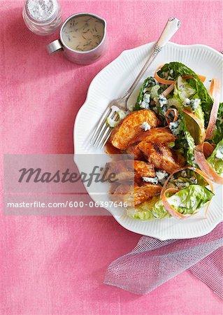 Hähnchen und Salat