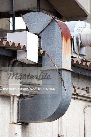 Conduit de ventilation d'usine
