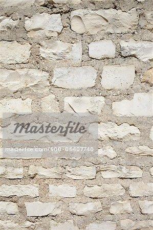 Detail of Stone Wall, Royan, Charente-Maritime, Poitou-Charentes, France