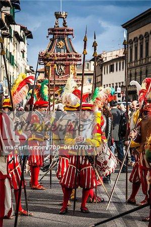 Scoppio del Carro, Explosion der Cart-Festival, Ostersonntag, Florenz, Provinz Florenz, Toskana, Italien